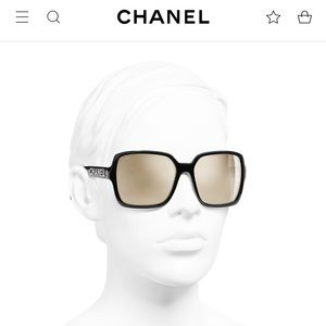🖤$625. Chanel Blk Square 18KT White gold lens NEW